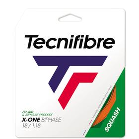 Squashový výplet TECNIFIBRE X-One Squash orange (1,18 mm) - 10m